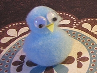 Bluebird Pom-pom Craft
